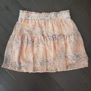 NWT Floral Mini Skirt pink purple M